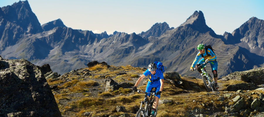 head mountainbike appartement ischgl chaleo